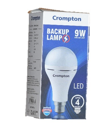 Crompton 9W LED Cool Day Light - 4 Hrs back up lamp