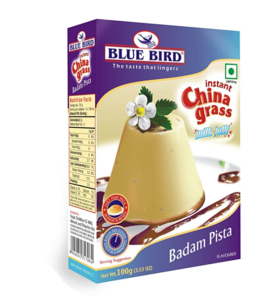 Blue  Bird  Instant China Grass Milk Jelly - Badam Pista 100 g