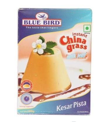 Blue  Bird  Instant China Grass Milk Jelly - Kesar Pista 100 g