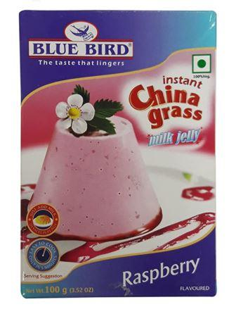 Blue Bird Instant China Grass Milk Jelly - Raspberry 100g