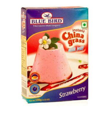 Blue  Bird  Instant China Grass Milk Jelly - Strawberry 100 g