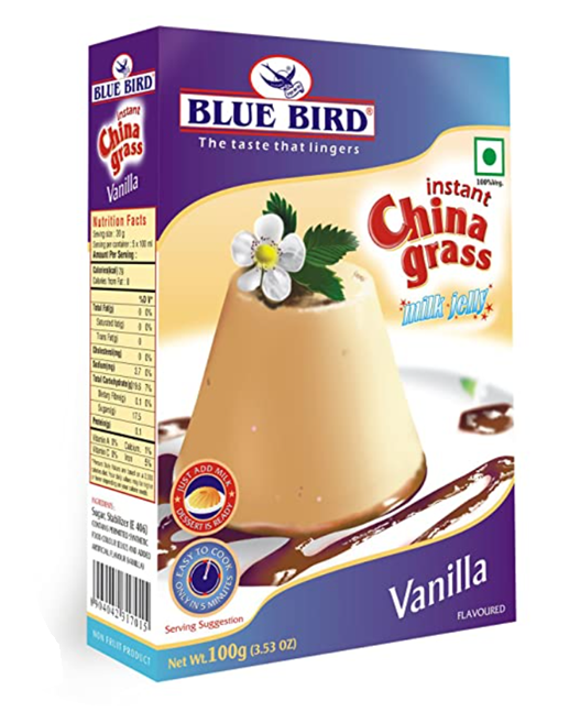 Blue  Bird  Instant China Grass Milk Jelly - Vanilla  100 g
