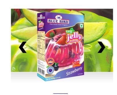 Blue Bird Veg Jelly Crystals - Strawberry