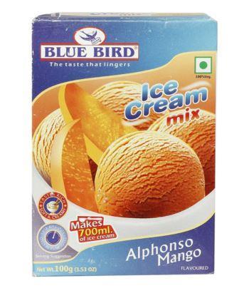 Blue Bird Ice Cream Mix - Alphonso Mango 100 g