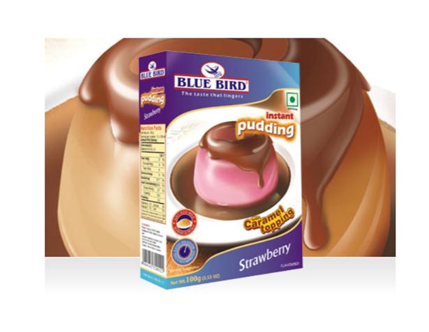 Blue Bird Instant Pudding Mix - Strawberry 100 g