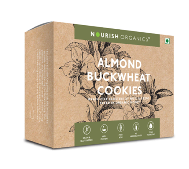Nourish Organics Almond Buckwheat Cookies - 140 g box