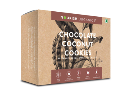 Nourish Organics Chocolate Coconut Cookies - 140 g box
