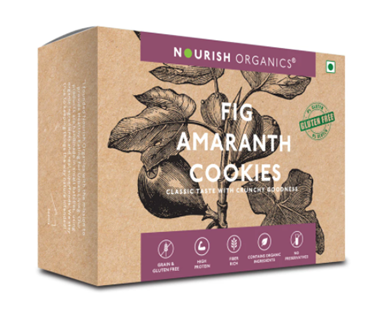 Nourish Organics Fig Amaranth Cookies - 110 g box