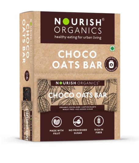 Nourish Organics Chocolate Oats Bar - 30g  single bar