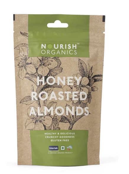 Nourish Organics Honey Roasted Almond - 100 g