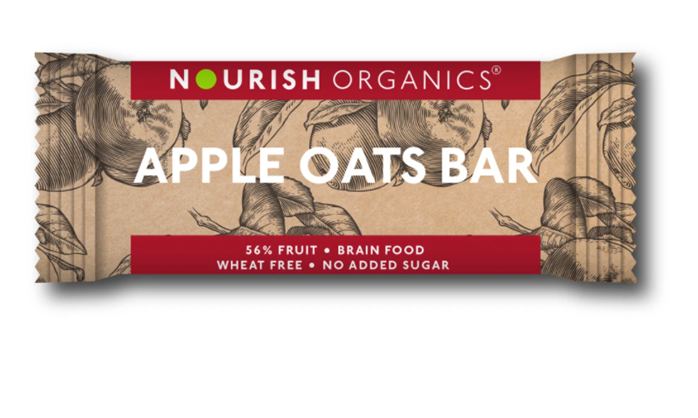 Nourish Organics Apple Oats Bar - 30g  single bar