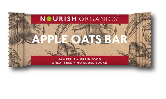 Nourish Organics Apple Oats Bar - 30g  single bar