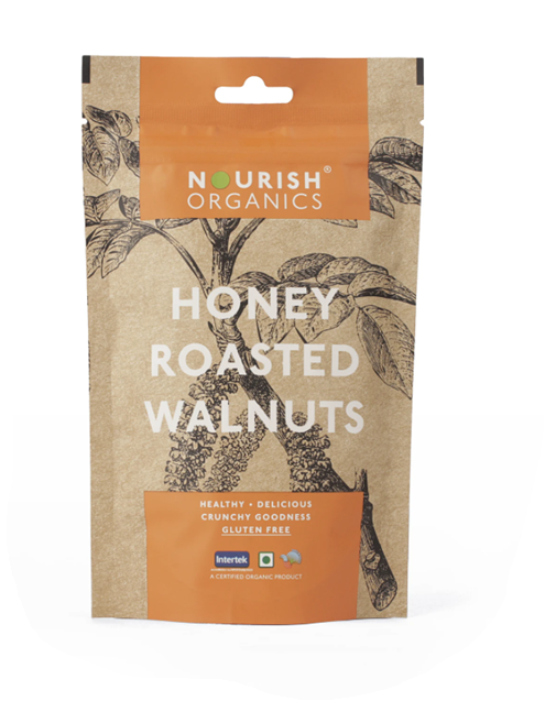 Nourish Organics Honey Roasted Walnut - 100 g