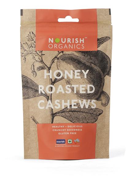 Nourish Organics Honey Roasted Cashewnut - 100 g