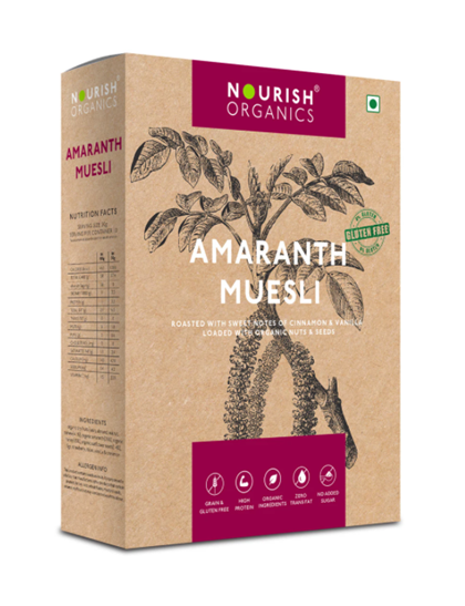 Nourish Organics Amaranth Muesli - 300 g Box