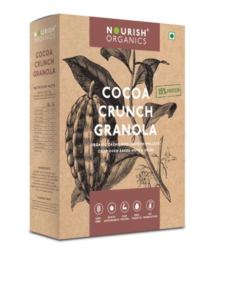 Nourish Organics Cocoa Crunch Granola - 300 g Box