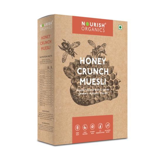 Nourish Organics Honey Crunch Muesli - 300 g Box