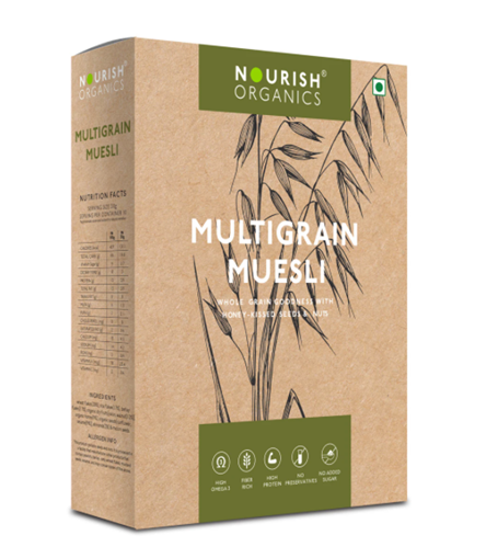 Nourish Organics Multigrain Muesli - 300 g Box