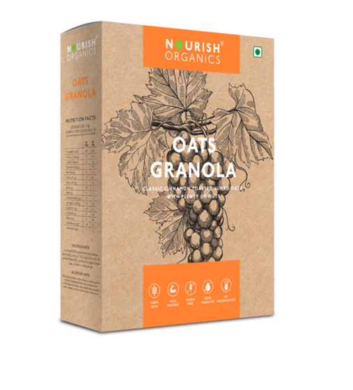 Nourish Organics Oats Granola - 300 g Box