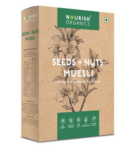 Nourish Organics  Seeds + Nuts Muesli - 300 g Box