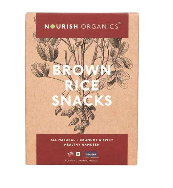 Nourish Organics Brown Rice Snacks - 150 g Box