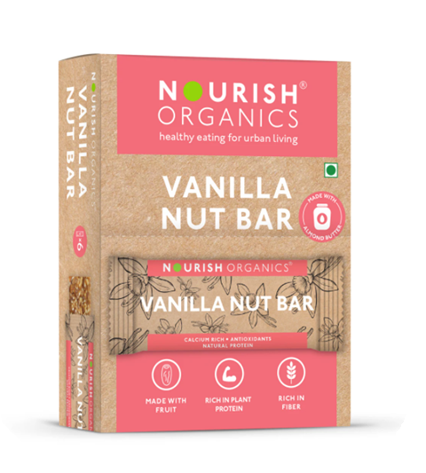 Nourish Organics Vanilla Nut Bar - 30 g single Bar
