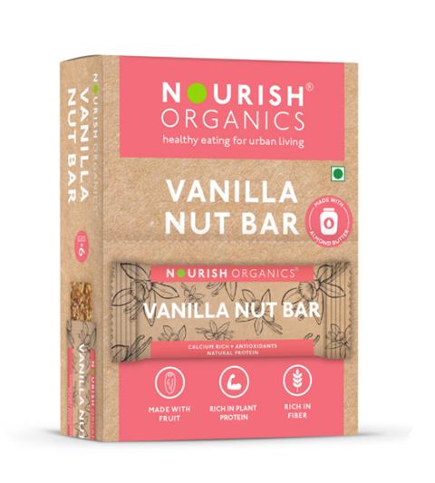 Nourish Organics Vanilla Nut Bar - 30 g single Bar