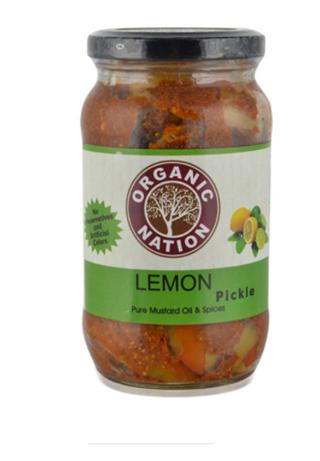 Organic Nation Lemon Pickle  400 g  Bottle