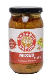 Organic Nation Mixed Pickle  400 g Bottle