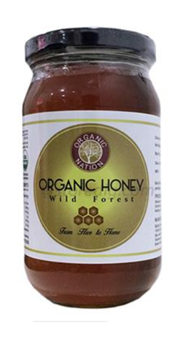 Organic Nation Organic Honey - Wild Forest 500 g Bottle