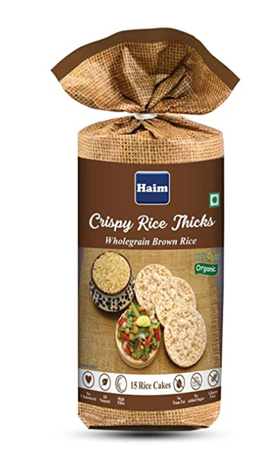 Haim Crispy Rice Thicks (Wholegrain Brown Rice) 110 g