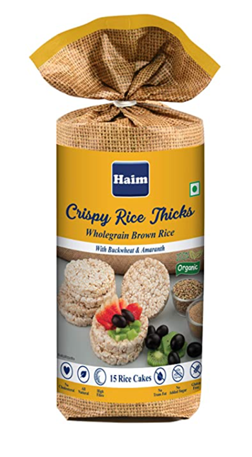 Haim Crispy Rice Thicks (Wholegrain Brown Rice with Buckwheat & Amaranth) 110 g