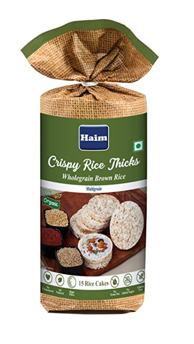 Haim Crispy Rice Thicks (Wholegrain Brown Rice )  - Multigrain 110 g