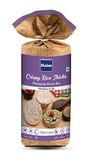Haim Crispy Rice Thicks (Wholegrain Brown Rice with Quinoa and Chia ) 110 g