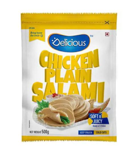 Delicious Chicken Plain Salami 500 g