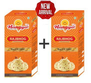 Hangyo Rajbhog  Ice Cream (Judwa Pack)  700 ml Box