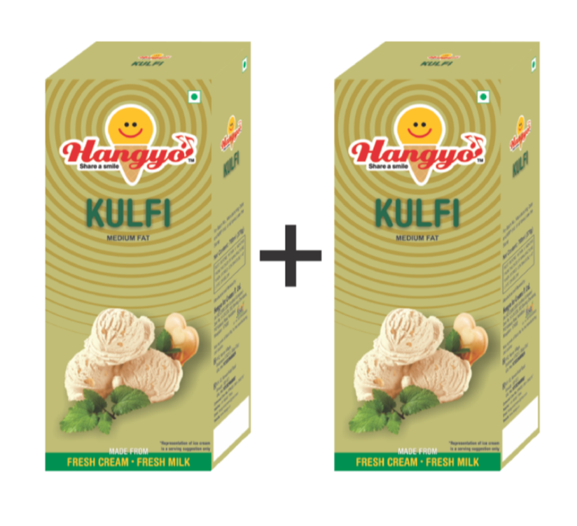 Hangyo Kulfi  Ice Cream (Judwa Pack)  700 ml Box