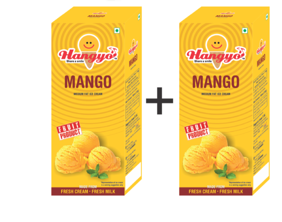 Hangyo Mango Ice Cream (Judwa Pack)  700 ml Box