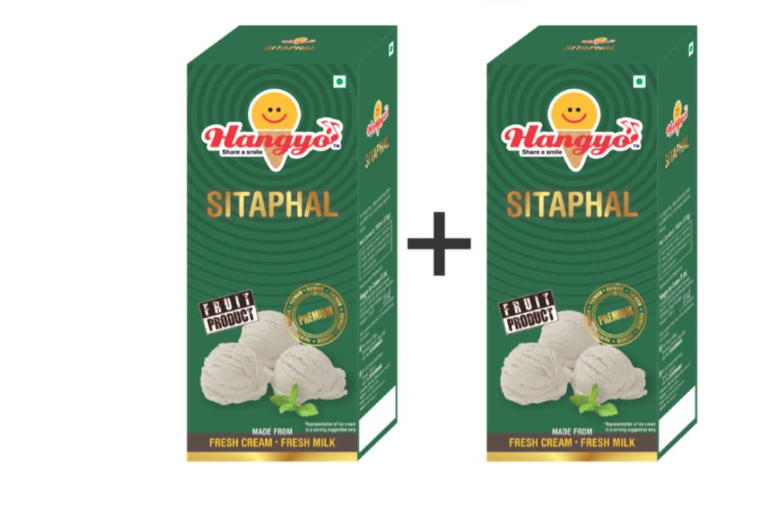 Hangyo Sitaphal Ice Cream (Judwa Pack)  700 ml Box