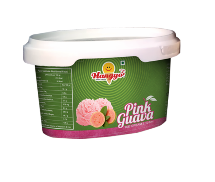 Hangyo Pink Guava Ice Cream  125 ml Tub