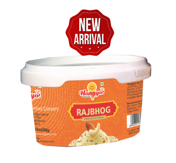 Hangyo Rajbhog Ice Cream  125 ml Tub