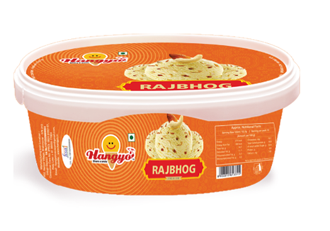 Hangyo Rajbhog Ice Cream  1000 ml Tub