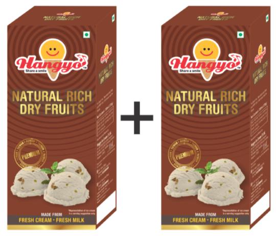 Hangyo Natural Rich Dry Fruits (Judwa Pack)  700 ml Box