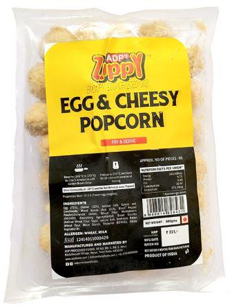 Zippy Egg & Cheesy Popcorn 500 g