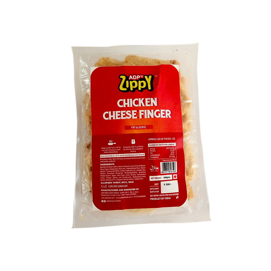 Zippy Chicken Cheese Fingers 500 g