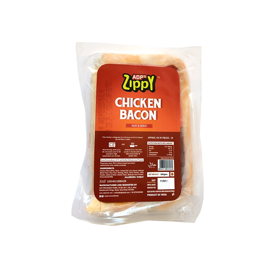 Zippy Chicken Bacon 500 g