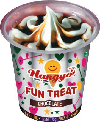 Hangyo Fun Treats Ice Cream - Chocolate  125 ml