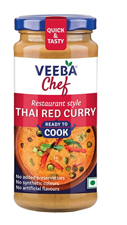 Veeba Chef Ready to Cook  - Thai Red Curry Gravy 240g