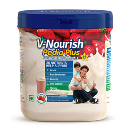 V-Nourish Pedia Plus Strawberry Milk Mix 200 gms
