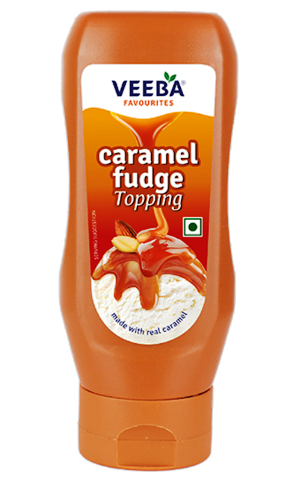 Veeba Caramel Fudge Topping 380 g